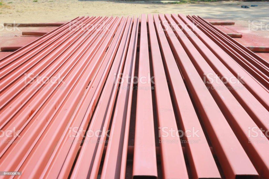Steel rustproof paint stock photo