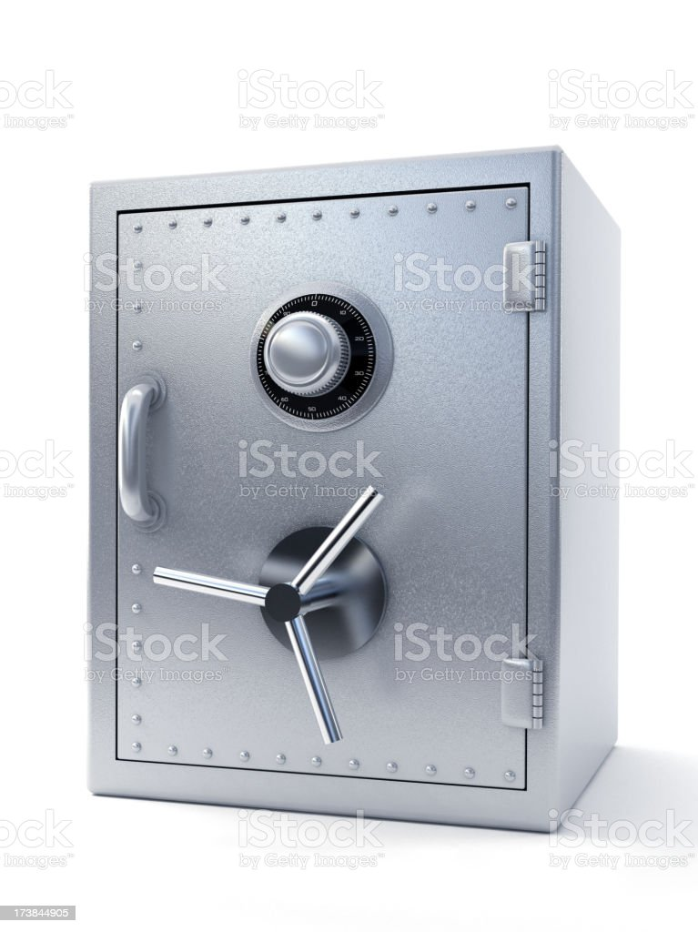Steel safe stock photo