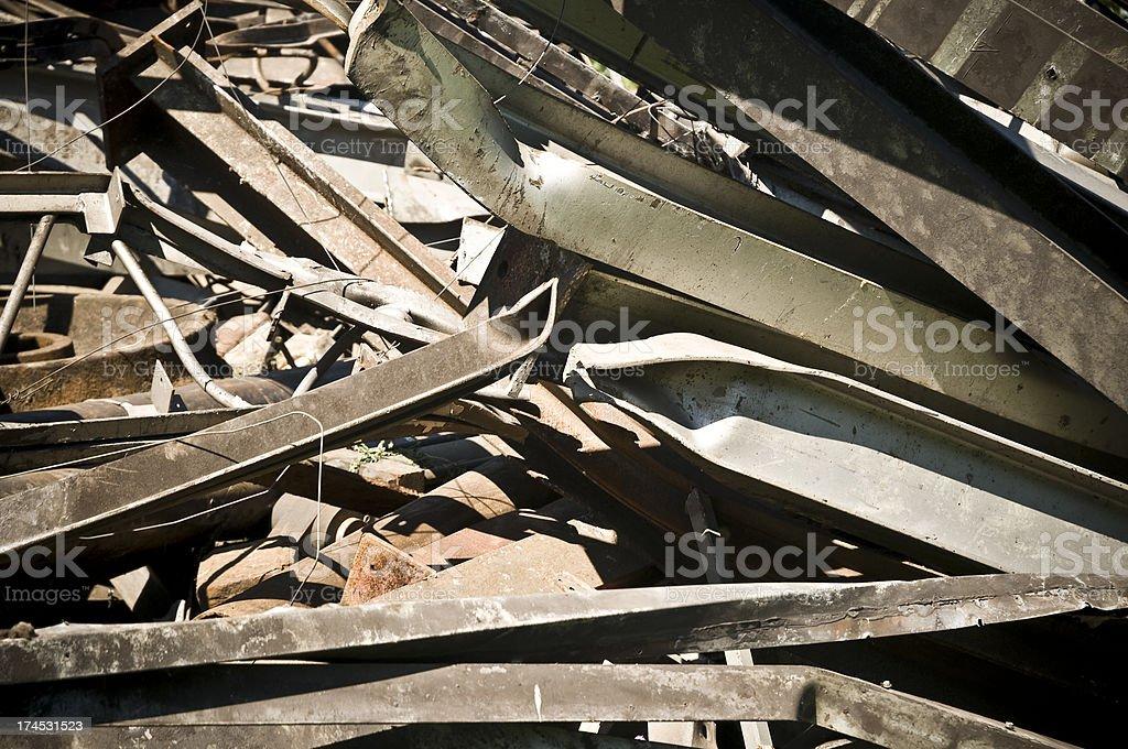 Steel scrap royalty-free stock photo