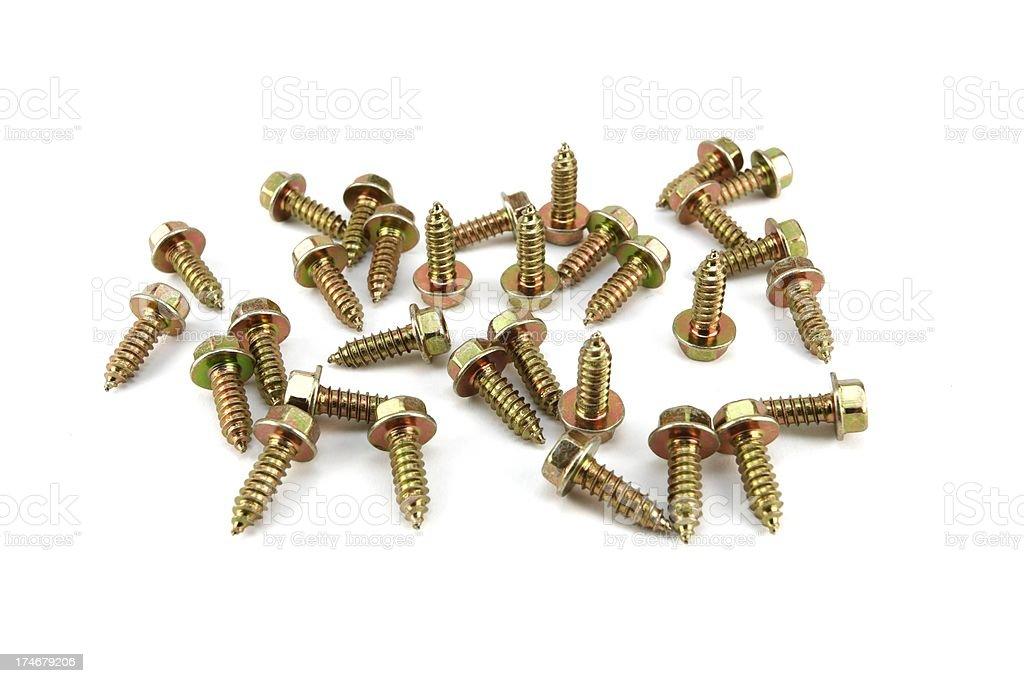Steel screws. stock photo