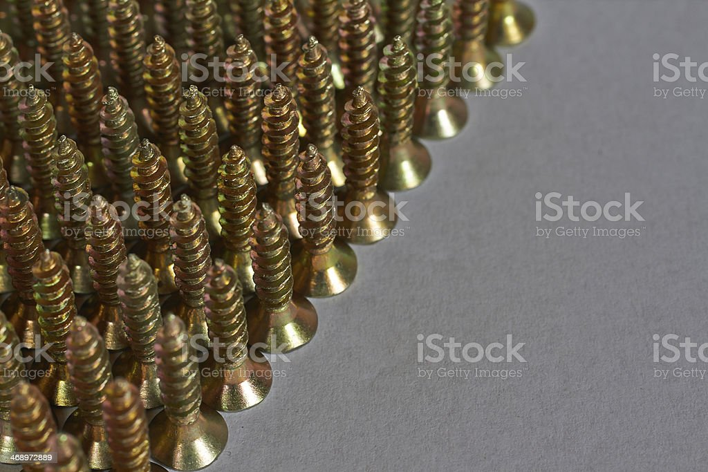 steel screws royalty-free stock photo