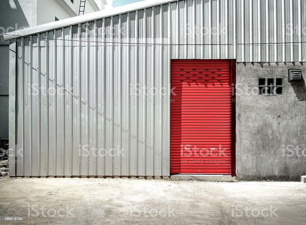 Steel shutter stock photo