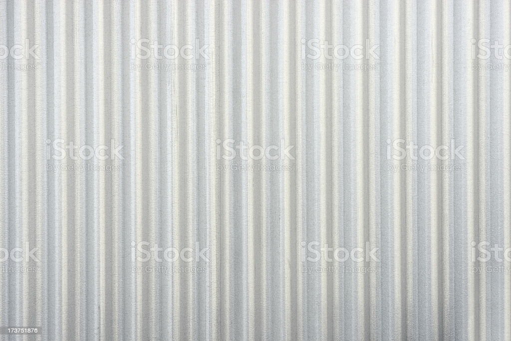 Steel Siding Silver Corrugated Iron Metal stock photo