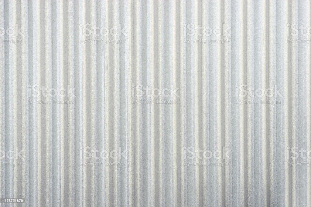 Steel Siding Silver Corrugated Iron Metal stock photo