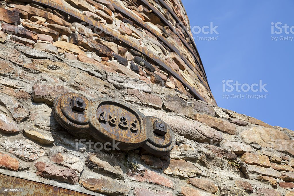 Steel sign with date 1835 royalty-free stock photo