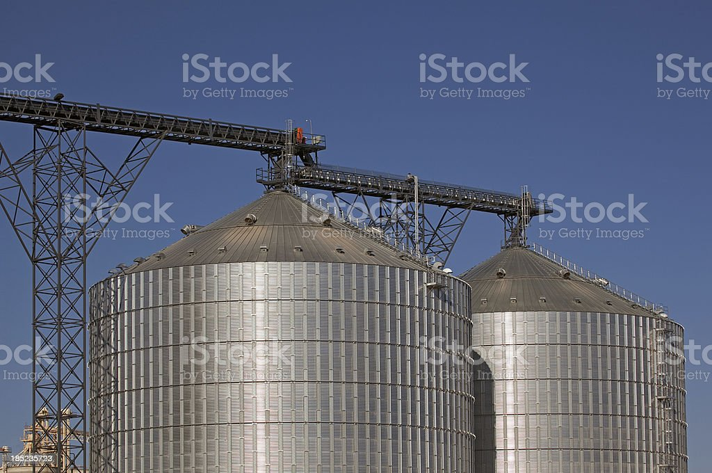 Steel Silos stock photo