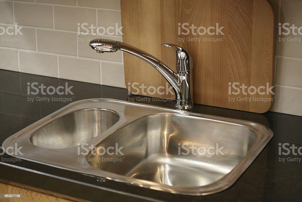Steel Sink stock photo