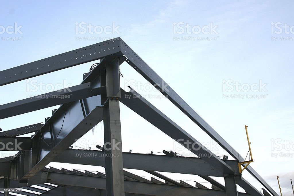 Steel skeleton at a construction site royalty-free stock photo