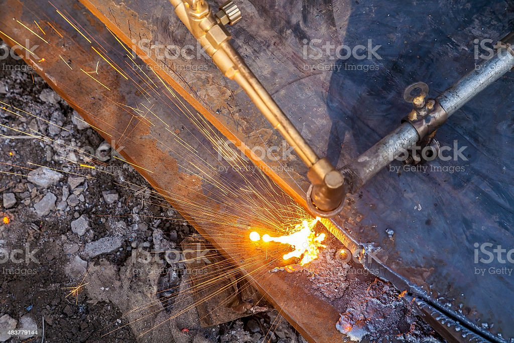 Steel Slag stock photo