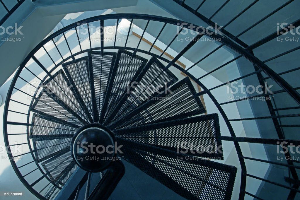 steel spiral staircase stock photo