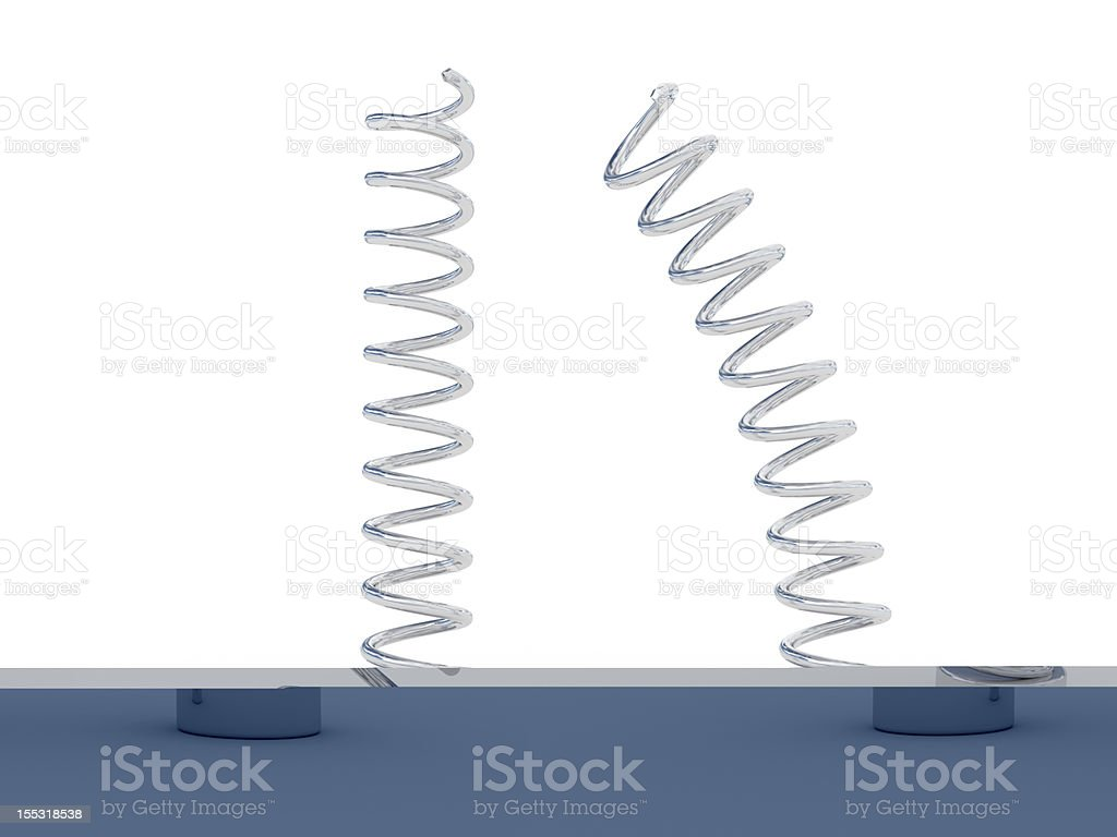 steel springs royalty-free stock photo
