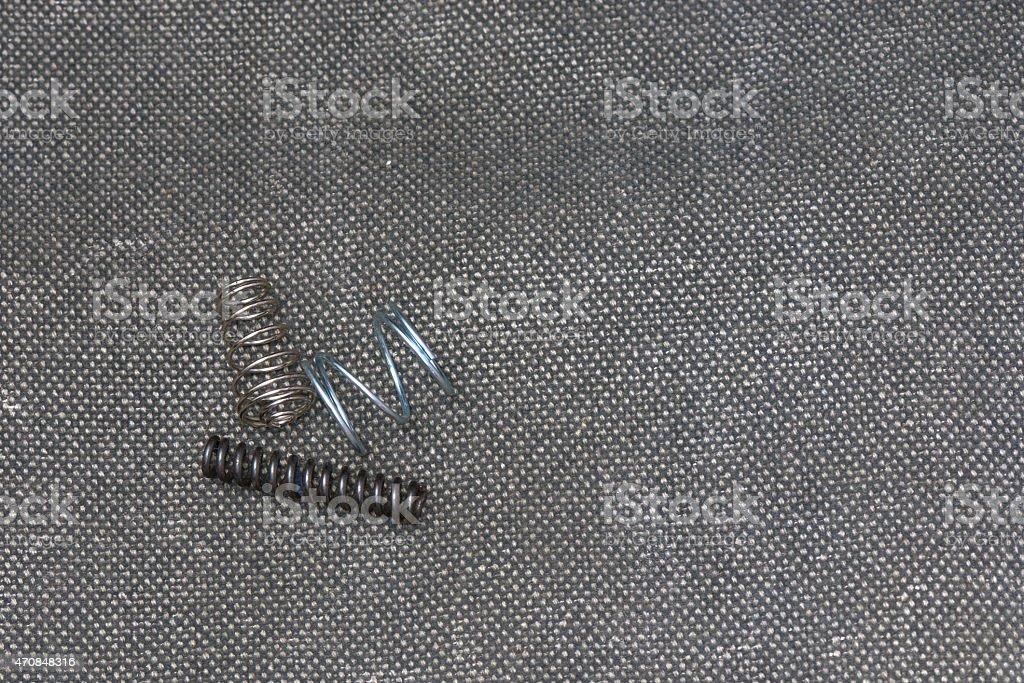 Steel springs stock photo
