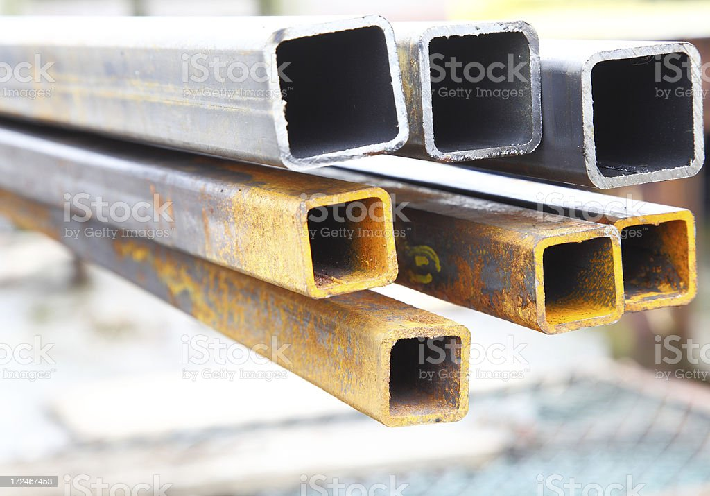 steel square section stock photo