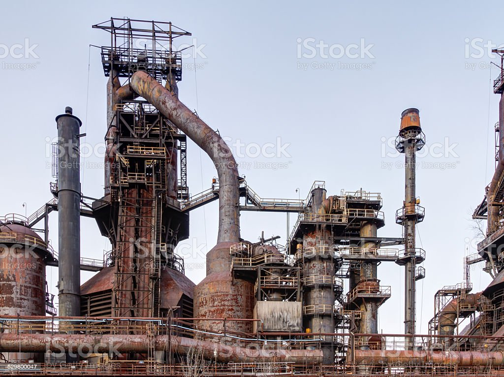 Steel Stacks stock photo