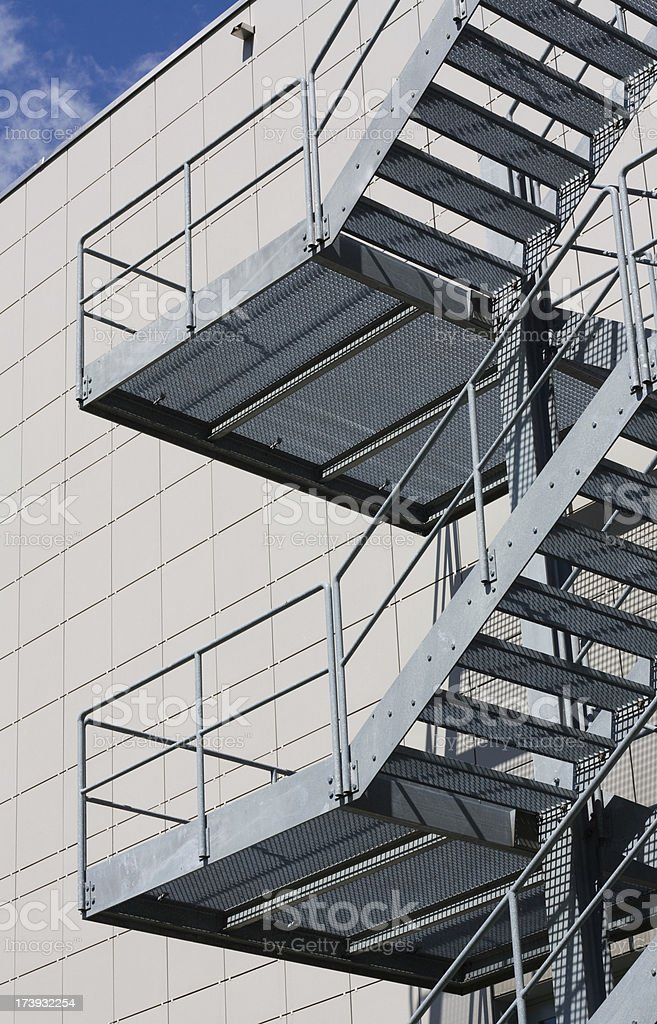 steel staircase royalty-free stock photo