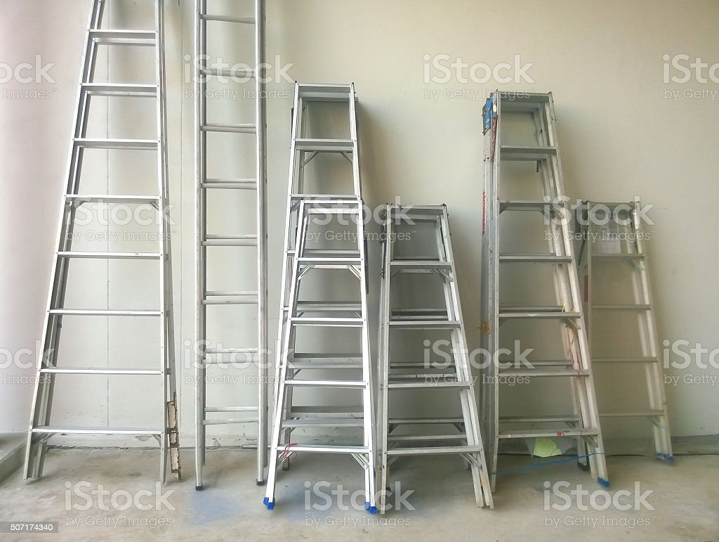 steel staircase stock photo