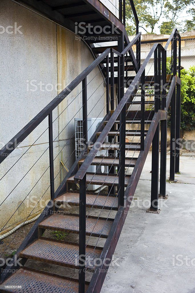 Steel staircases royalty-free stock photo