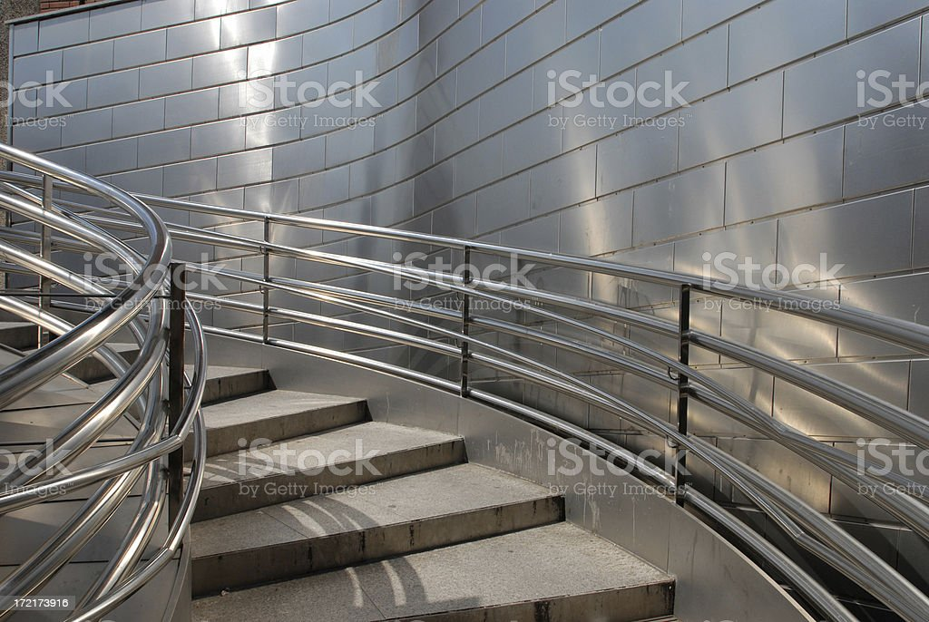 Steel Stairs stock photo