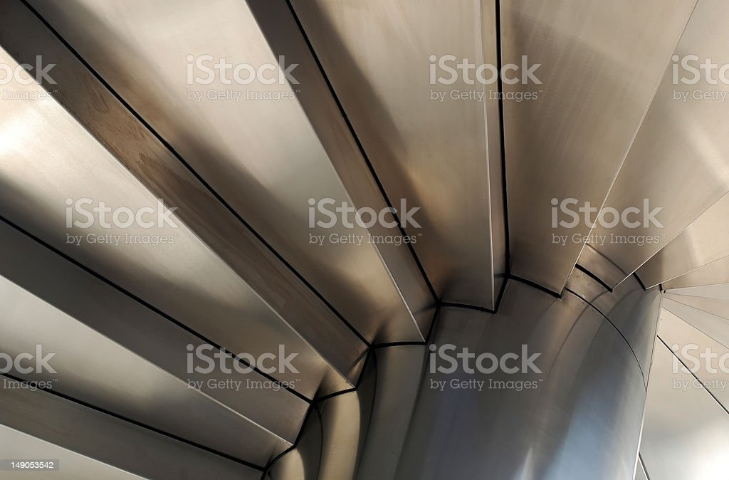 Steel Stairways royalty-free stock photo