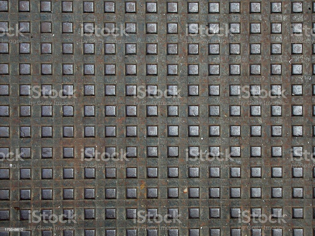 Steel Stepping Stones royalty-free stock photo