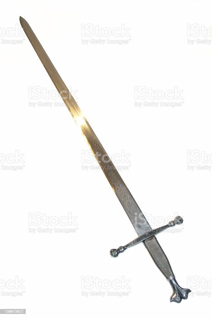 Steel sword royalty-free stock photo