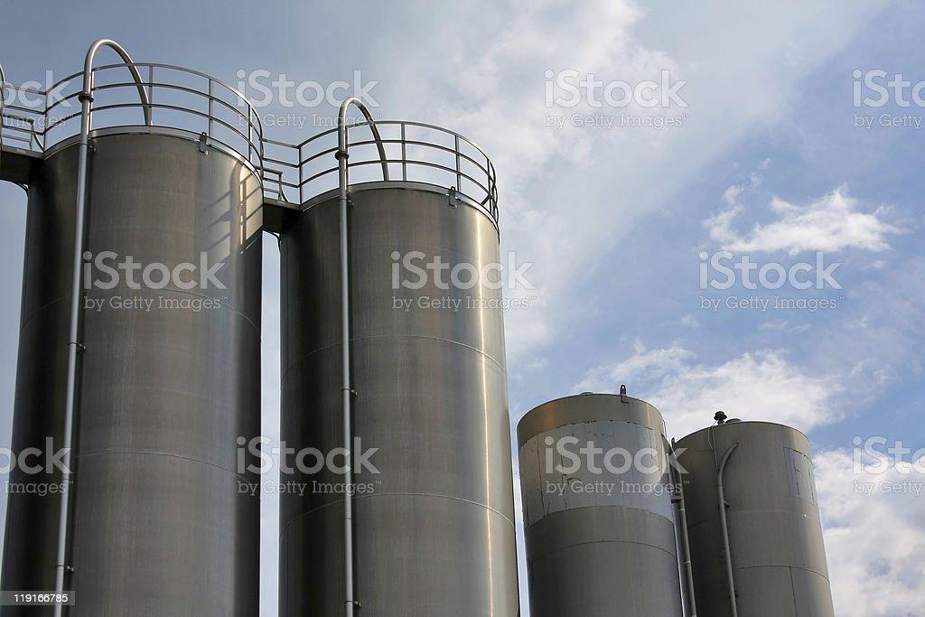 steel tanks stock photo