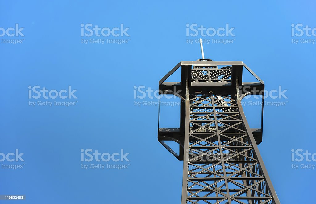 Steel telecommunication tower-top Lizenzfreies stock-foto