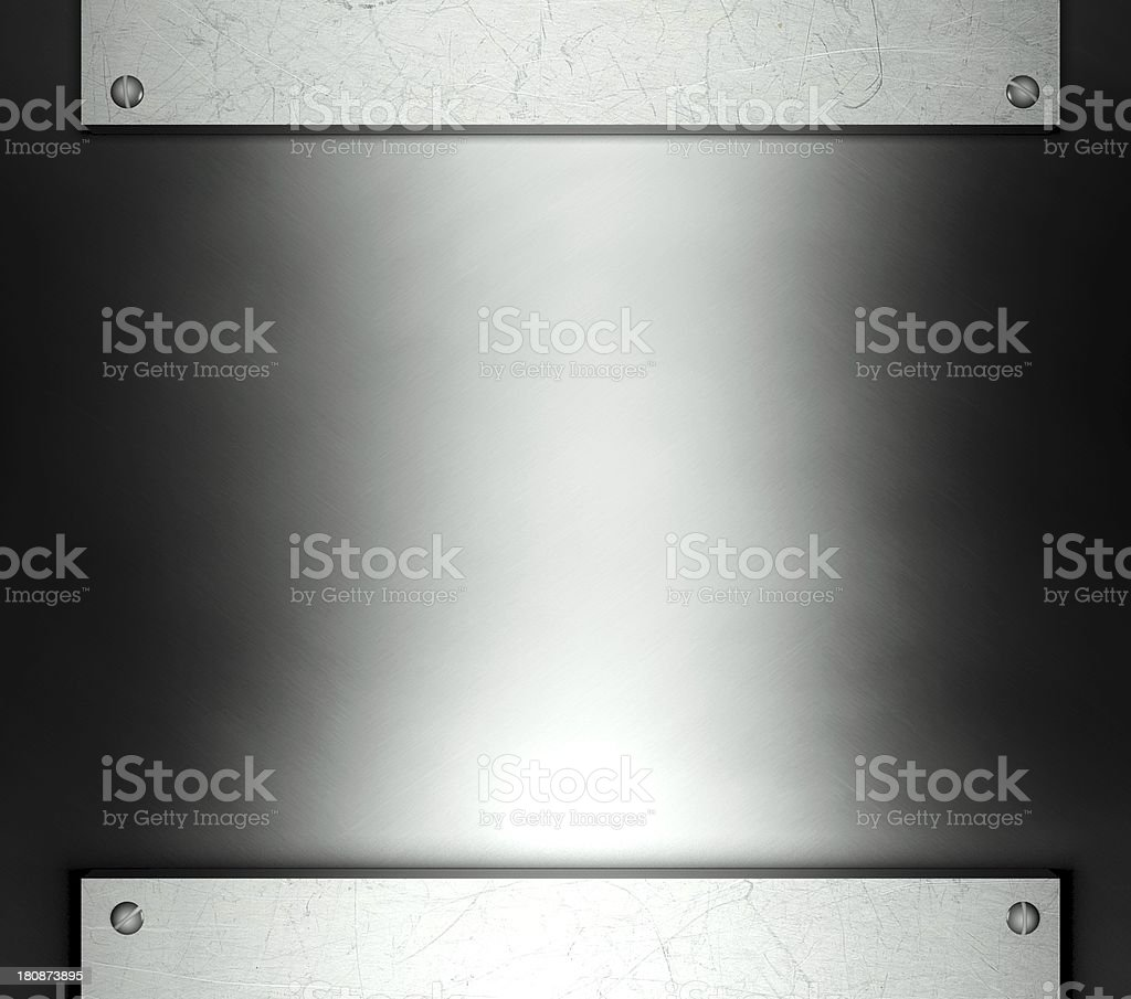 Steel template with copy space metal background royalty-free stock photo