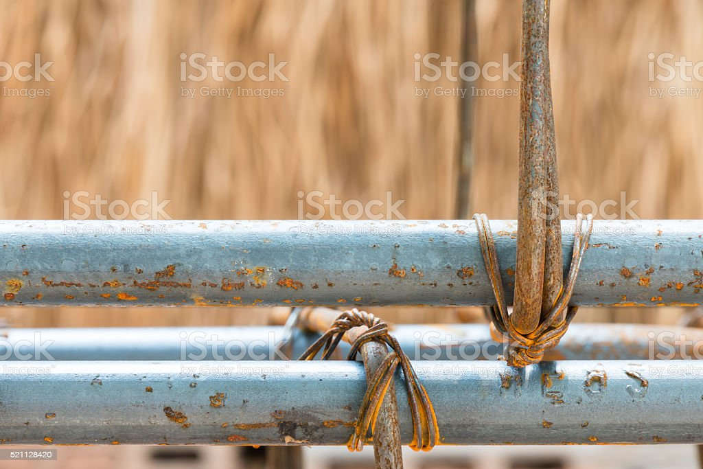 steel tie for structure stock photo