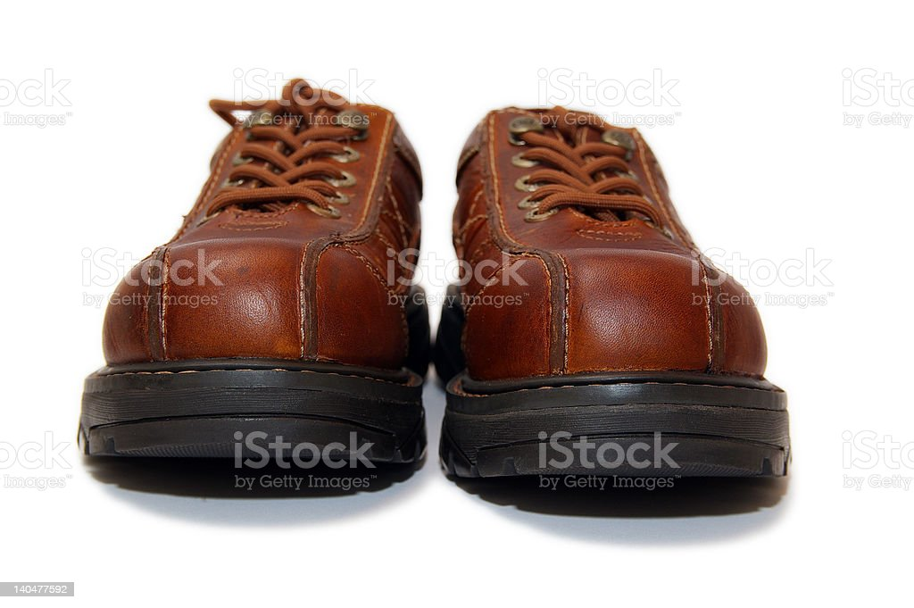 steel toe boots royalty-free stock photo