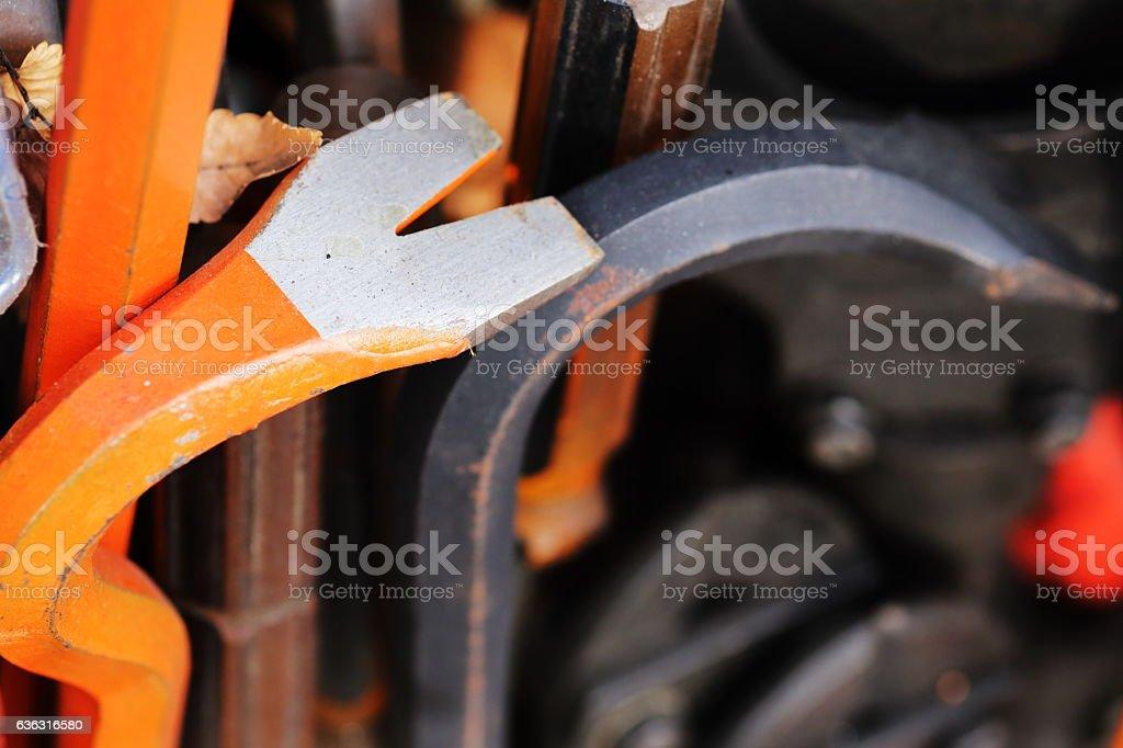 steel tools stock photo