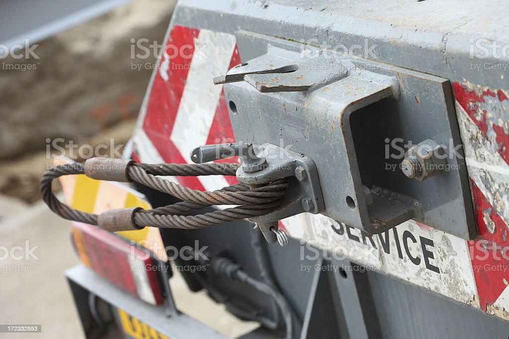 Steel towline royalty-free stock photo
