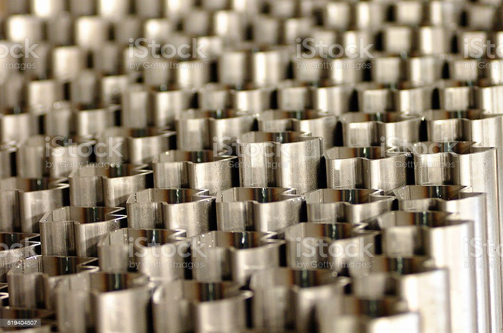Steel tubes stock photo