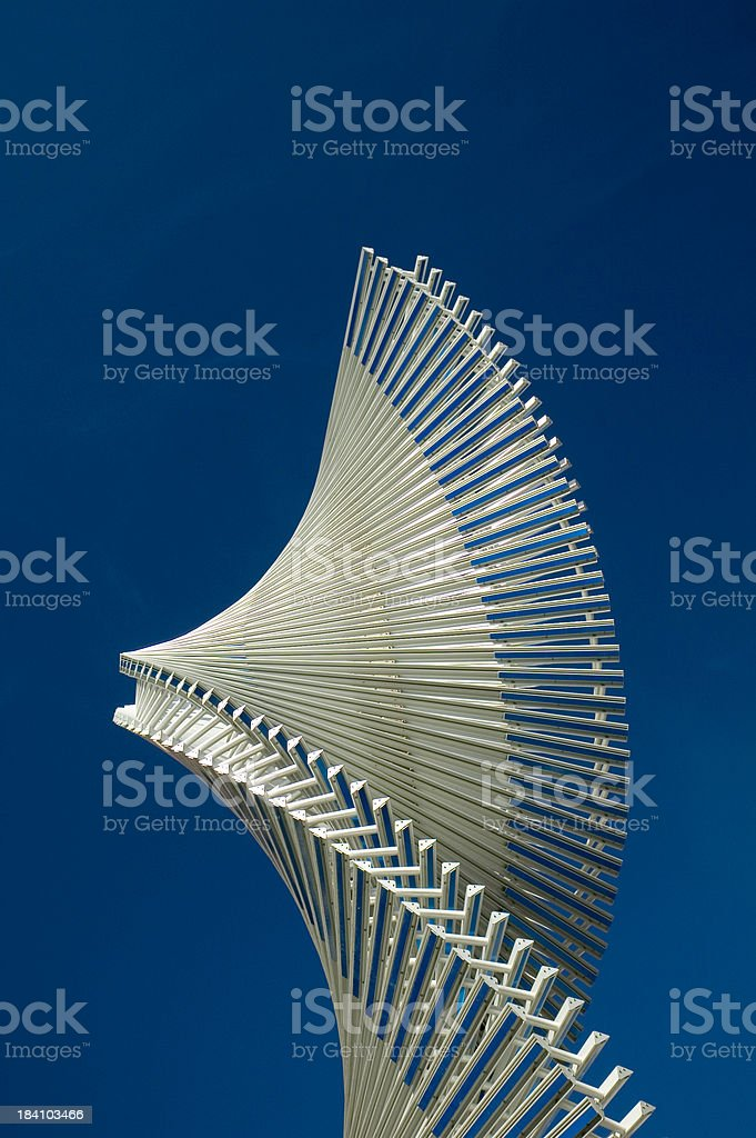 Steel twist royalty-free stock photo