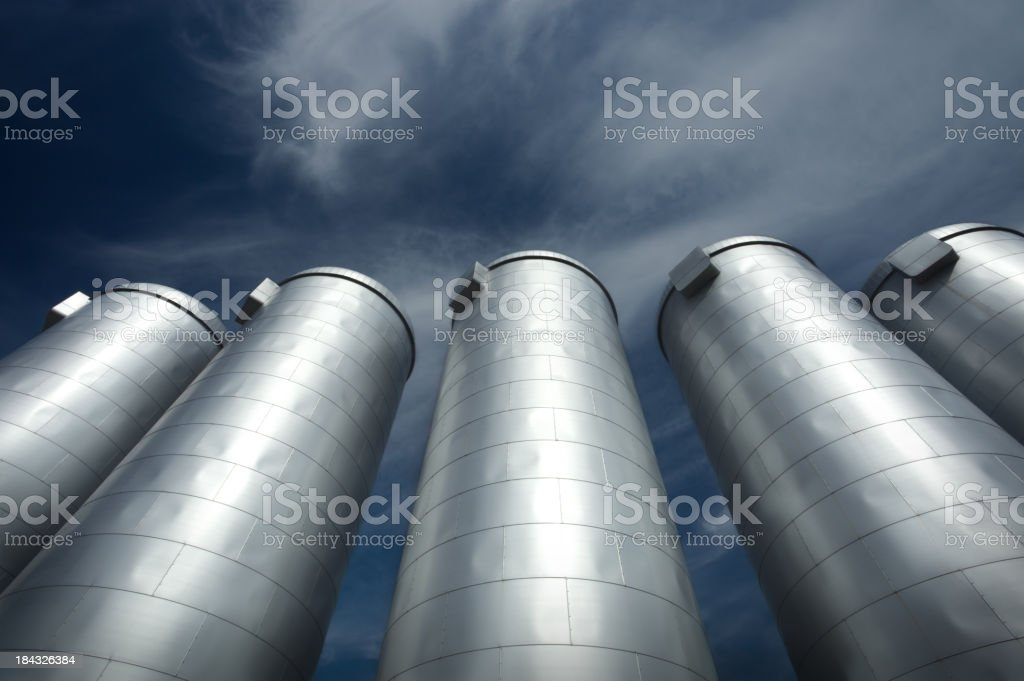 Steel vessels stock photo