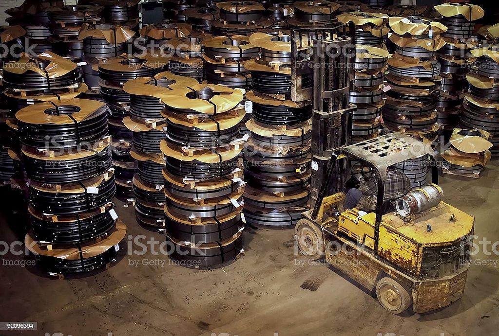 Steel Warehouse royalty-free stock photo