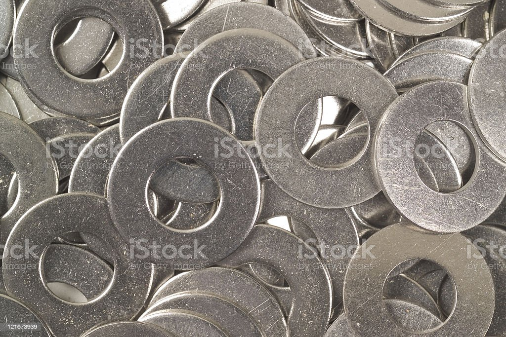 Steel Washers royalty-free stock photo