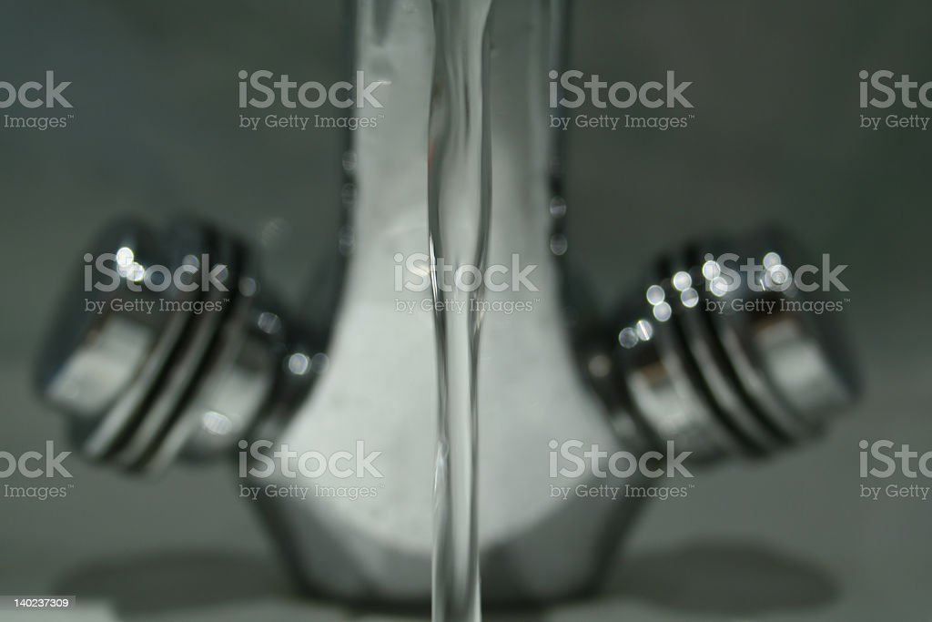 Steel Water Tap stock photo