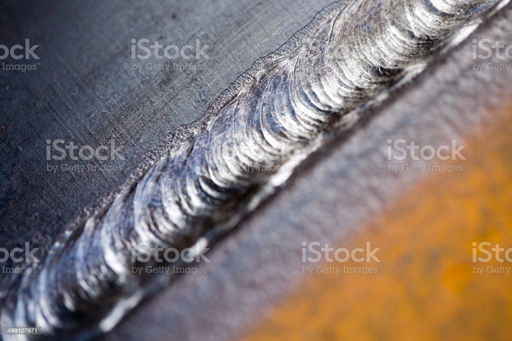 Steel Weld Close Up stock photo