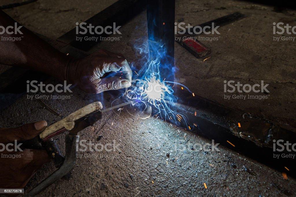 Steel welding stock photo