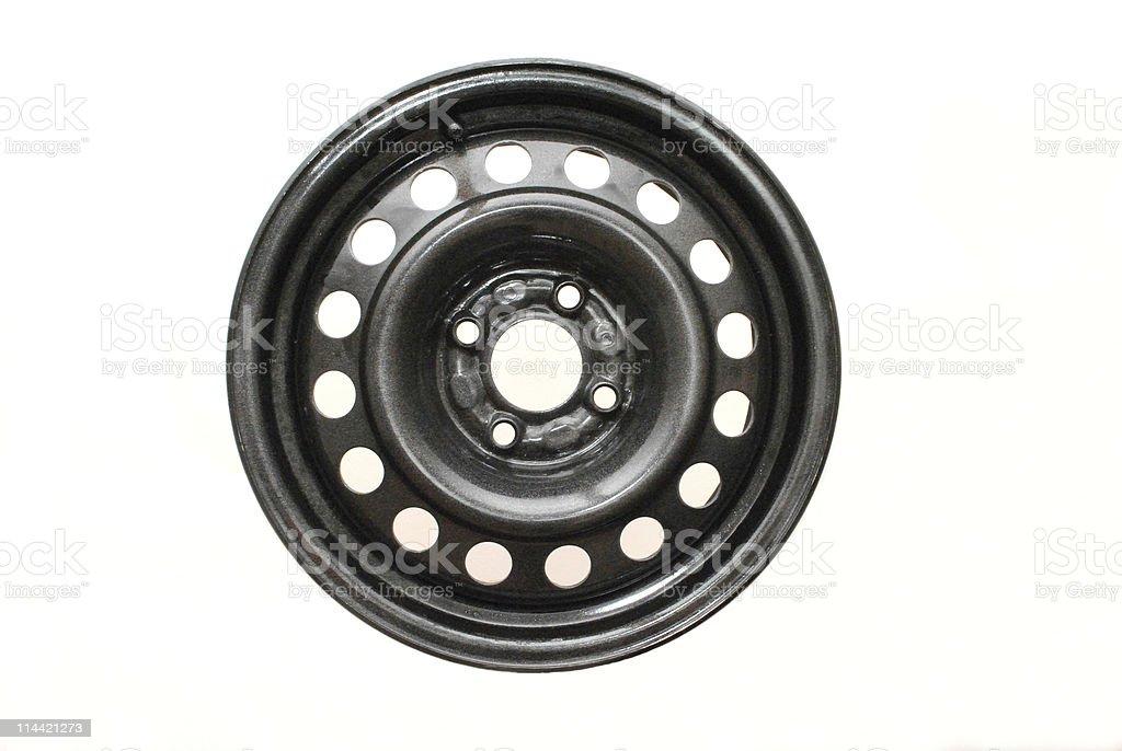 Steel wheel rim stock photo