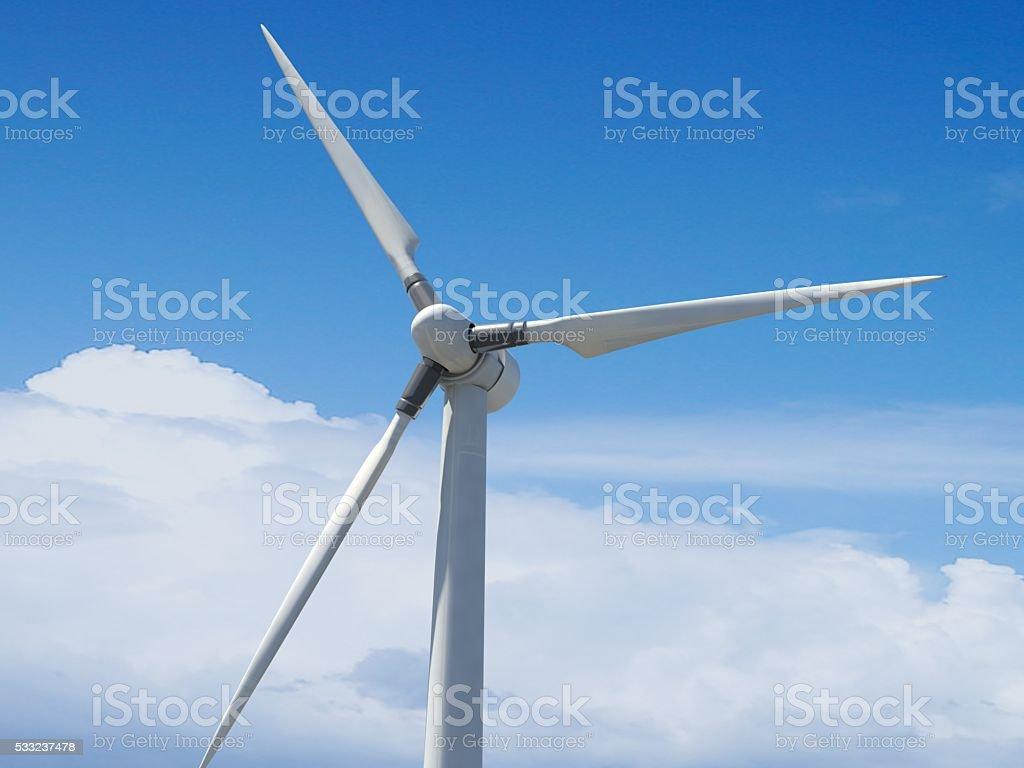 Steel Wind Turbine Tower stock photo