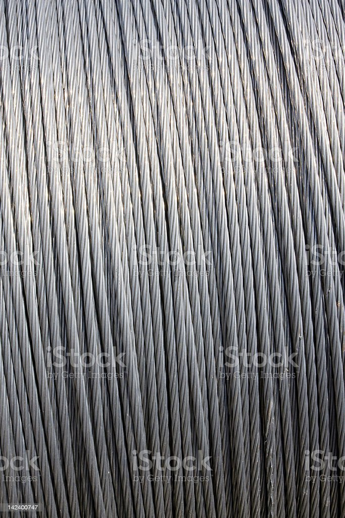 Steel wire cable royalty-free stock photo