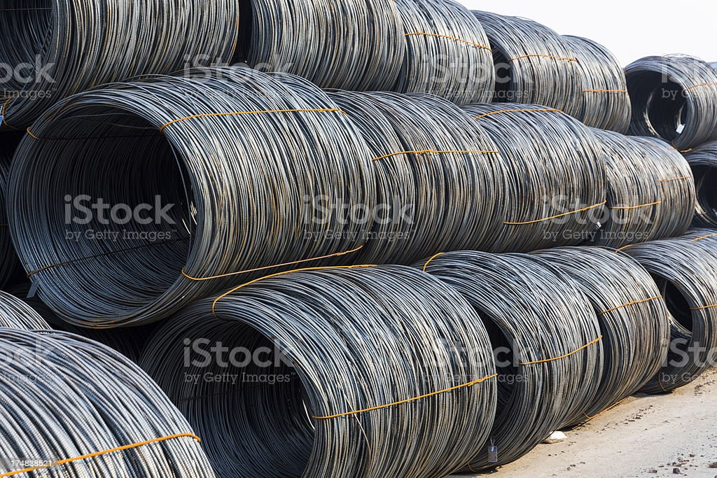 Steel Wire in Coil royalty-free stock photo