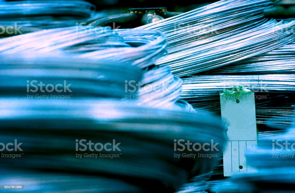 Steel Wire in Coil stock photo