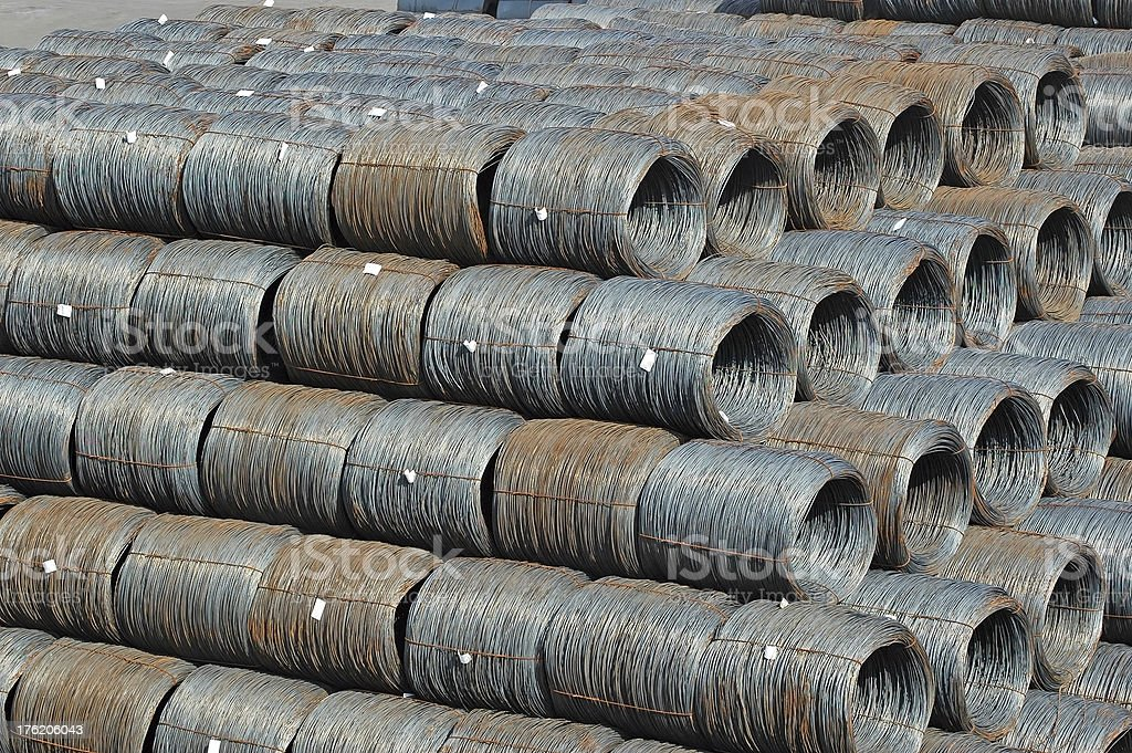 Steel wire roll royalty-free stock photo