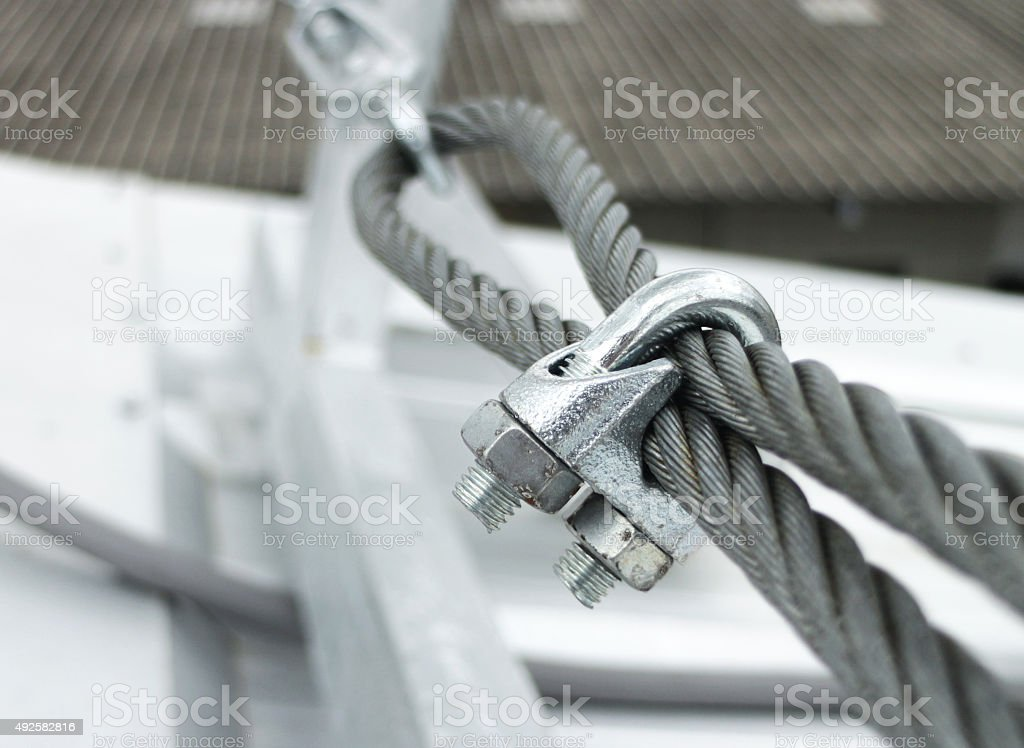 Steel Wire Rope Sling Clip stock photo