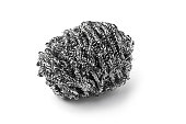 Steel wool on a white background