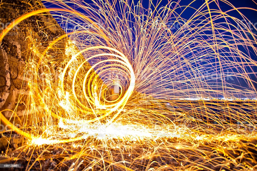 Steel Wool Spral stock photo