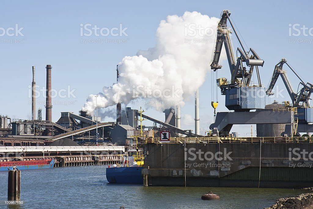 Steelfactory in the Netherlands royalty-free stock photo